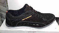 Мужские кожаные Кроссовки туфли  New Balance черные 40. 41. 42. 43. 44. 45