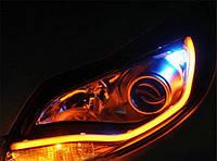 60 см. гибкие дхо Flexible DRL ходовые огни с функцией поворота. Цена за ПАРУ