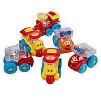 Набор машинок Huile Toys Мультяшная машинка (6 шт.) (706)