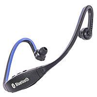 Мультимедийная bluetooth-гарнитура S9 синяя блютуз 4.0 наушники универсальная стерео плеер музыка mp3