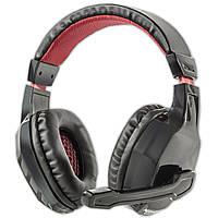 Игровая гарнитура NUBWO 3000 черно-красная с микрофоном универсальная для общения jack 3.5mm наушники музыка