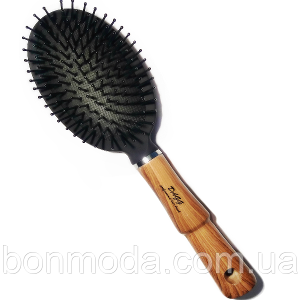 Массажная расческа для волос с деревянной ручкой Dagg