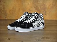 Кеды женские Vans x Supreme Sk8-Hi 30360 черно-белые