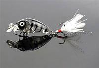 Воблер шумовой HENGJIA 45 мм с перьями