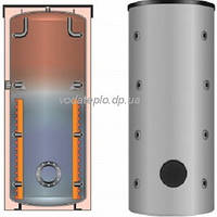 Буферная емкость для отопления Meibes SPSX 200 (мультибуфер, несколько источников тепла) (серебряная)