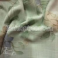 Ткань Лен вышивка (цветы)