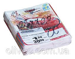 Тетрадь ученическая 12 листов линия (25 тетрадей- 1 упаковка)