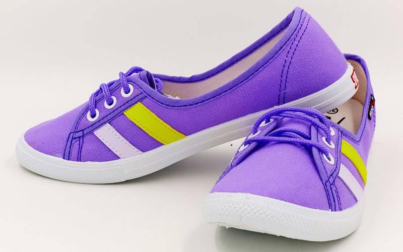 Полукеды женские KITO фиолетовые KWS155-V