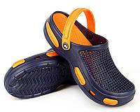Кроксы, сабо синие / оранжевая середина. Р-ры 36/37, 38/39, 40/41, 42/43, 44/45, 46/47. Jose Amorales 531/552.