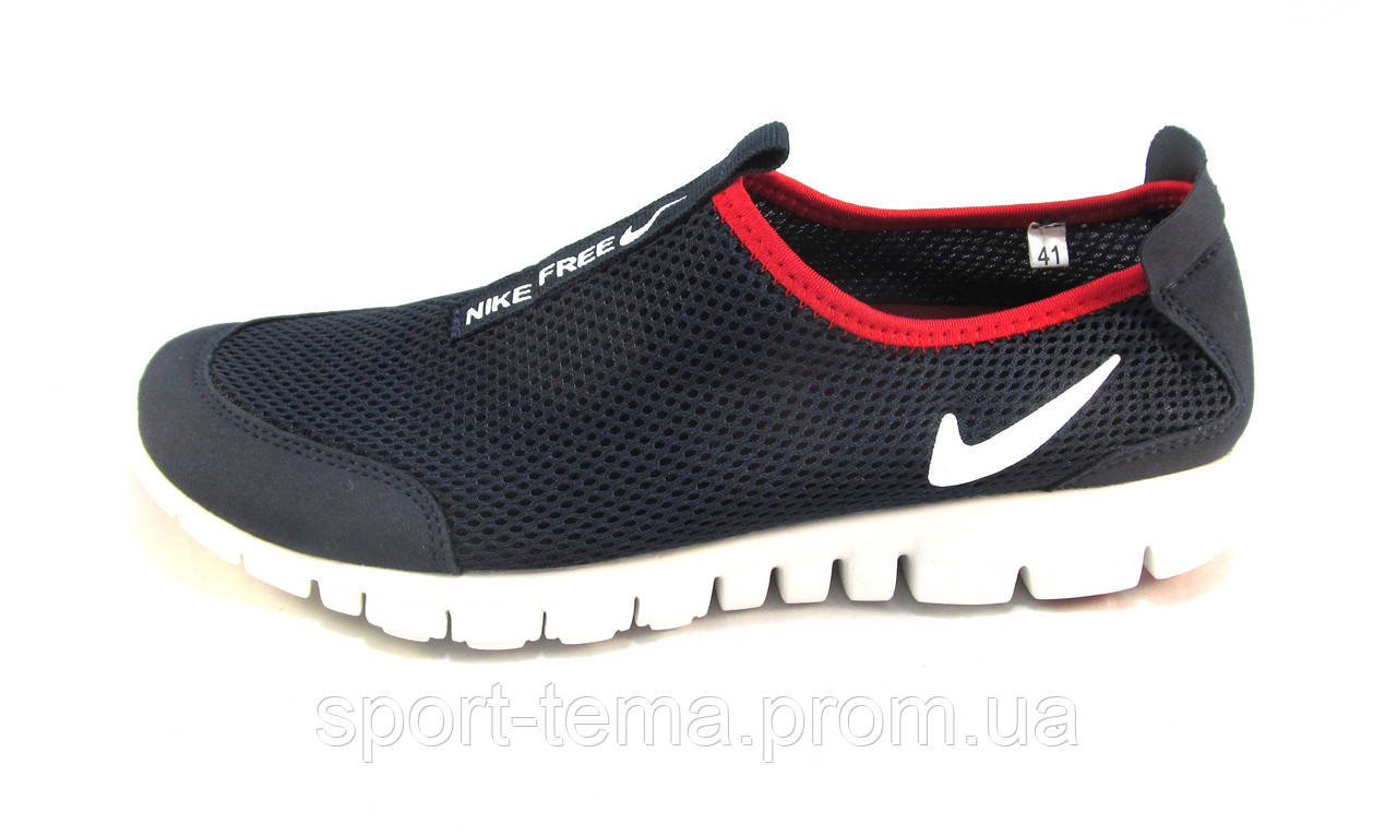 508d335d Кроссовки мужские Nike Free Run 3.0 сетка,синие с белым (найк фри ран)