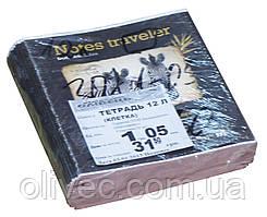 Тетрадь ученическая 12 листов клетка, (1 упаковка-30 тетрадей)