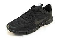 Кроссовки мужские  Nike Free Run 3.0 сетка,черные (найк фри ран)(р.44)