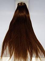 Волосы натуральные длинна 45 см(темный каштан)