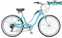 "Велосипед 26"" Schwinn Hollywood Women blue 2017"
