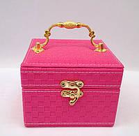 Музыкальная детская шкатулка для бижутерии розового цвета