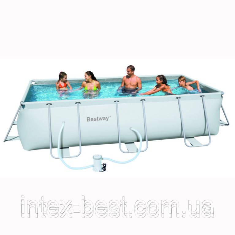 Bestway 56251 - (прямоугольный) каркасный бассейн Power Steel Rectangular 404x201x100 см