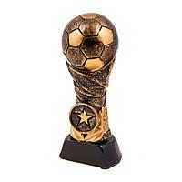 Статуэтка мяч футбол темный металл, H=14см,