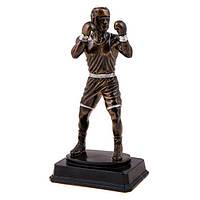Фигурка  боксера темный металл h=28см
