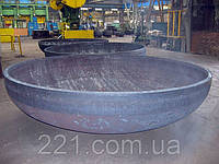 Днище стальное сферическое (эллиптическое) Ду900х10 ГОСТ 6533-78 ст.09Г2С, 3сп