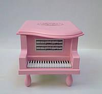 """Детская шкатулка для бижутерии """"Рояль"""" розового цвета"""
