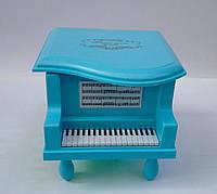 """Детская шкатулка для бижутерии """"Рояль"""" голубого цвета"""
