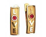 Серьги серебряные LOVE с камнем 40812, фото 2