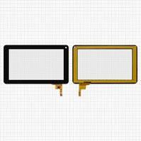 "Сенсорный экран для планшетов China-Tablet PC 7""; Cube U25GT, U26GT; Ployer Momo 9 Mrm-Power; ViewSonic ViewPad 70D, 7"", 12 pin, емкостный, черный,"