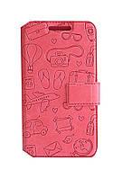 Откидной чехол Florence Travel для HTC Desire 326G книжка вбок, чехол подставка, обложка