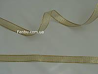 """Золотая тесьма """"ремень""""металлизированная, ширина 3 см"""