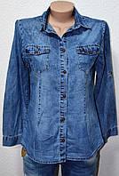 Рубашки джинсовые женские 0125
