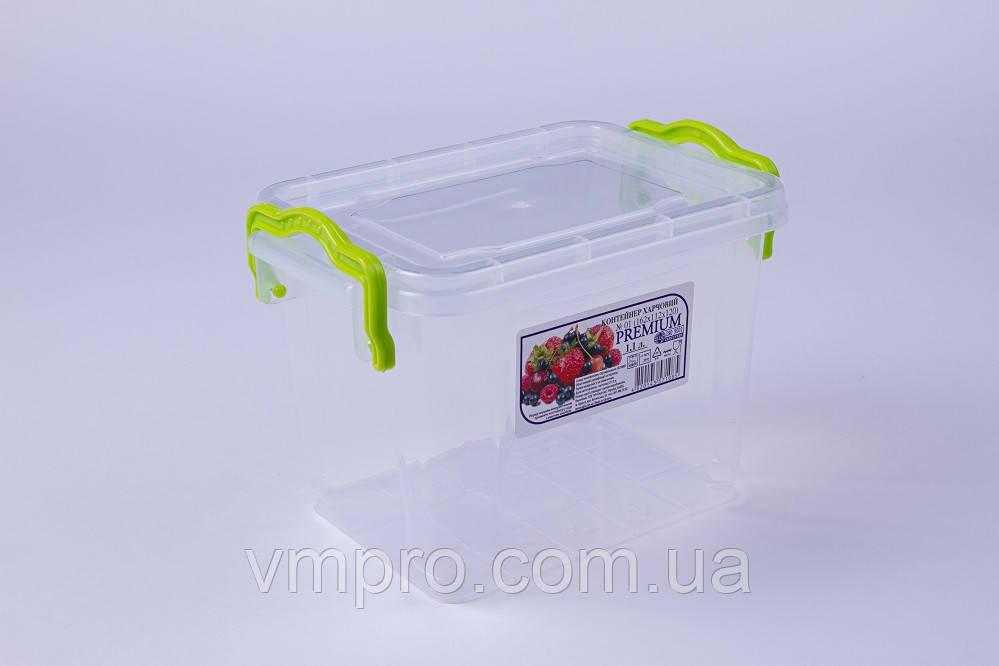 Контейнер пищевой Premium высокий, №01, 1.1 L,(162×112×120),емкость,судок для продуктов - Интернет-магазин VMPRO  в Харькове