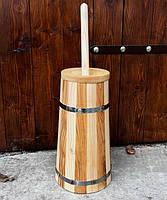 Маслобойка деревянная, ручная, 4,8 литра, фото 1