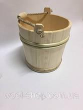 набор деревянных ведер в сауну (3шт.)