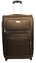Средний тканевый чемодан на двух колесах Wings 34521-brown, 58 л