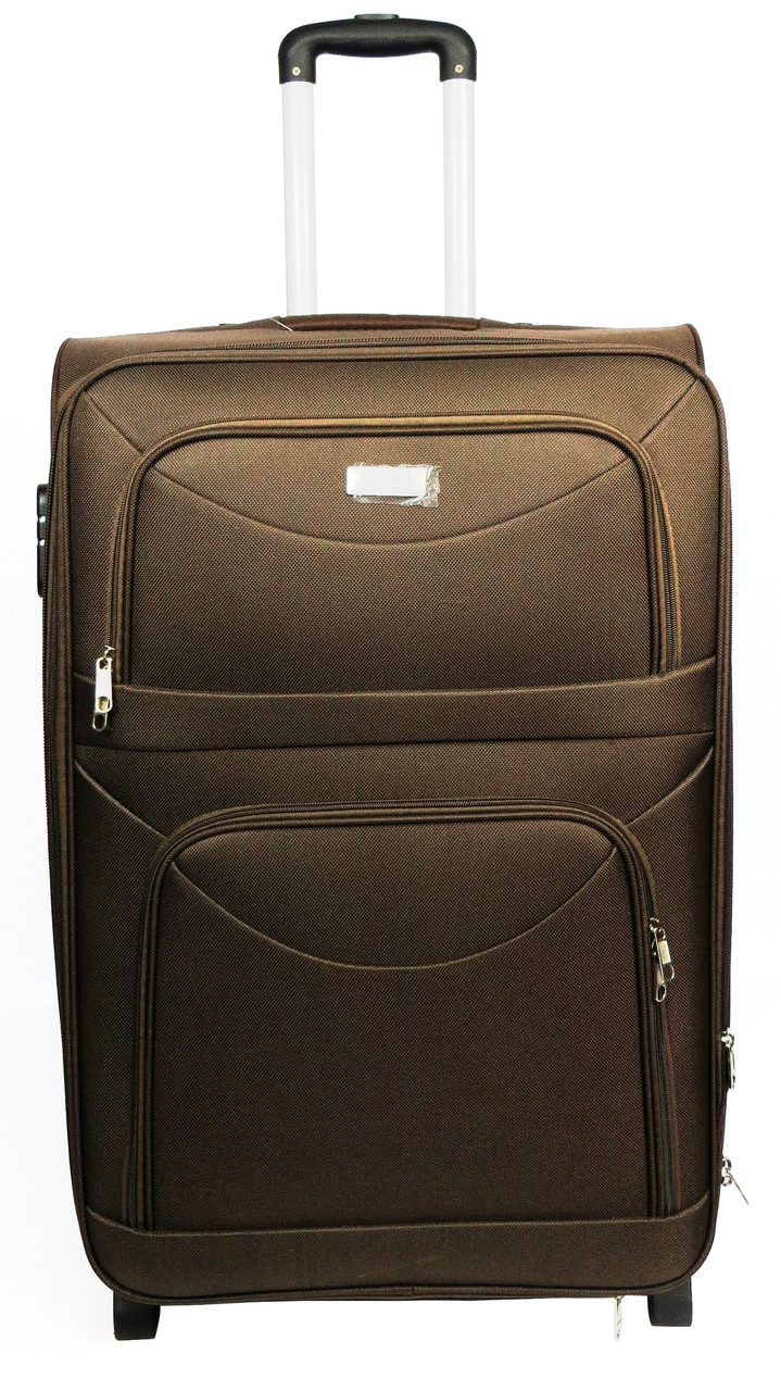 Средний тканевый чемодан на двух колесах 58 л. Wings 34521-brown,