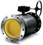 Кран стальной шаровый 11с32п Ду150/125 Ру25 присоединение фланец-фланец под редуктор и привод