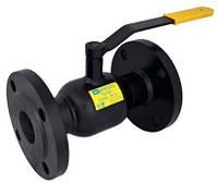 Кран стальной шаровый 11с32п Ду40/32 Ру40 присоединение фланец-фланец под редуктор и привод