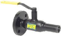 Кран стальной шаровый 11с34п Ду100/80 Ру40 присоединение фланец-сварка под редуктор и привод