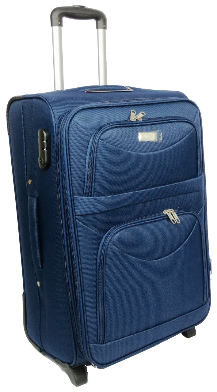 Средний тканевый чемодан на двух колесах 58 л. Wings 34521-navy