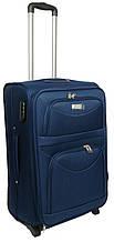 Малый тканевый чемодан на двух колесах 34 л. Wings 345210-navy, синий