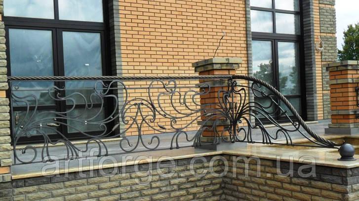 Кованое ограждение террасы, балкона, лестницы