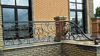 Кованое ограждение террасы, балкона, лестницы, фото 1