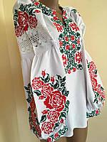 Вишиванка в стилі Бохо хрестиком (машинна вишивка) розмір 46-48 (L) 76f43aaebe8a4