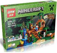 Конструктор Lego Minecraft Lepin 18003 Домик на дереве в джунглях (аналог Лего Майнкрафт)
