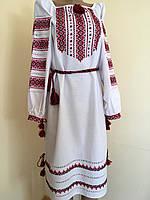 Сукня жіноча вишита ручної роботи на домотканому полотні розмір 50-52 (3XL)