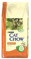 Сухой корм для кошек Cat Chow (Кэт Чау) Adult с курицей и индейкой 15 кг