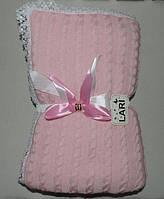 """Конверт-плед на выписку """"Змейка""""  TM Lari, розовый"""