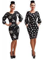 Платье Фонарик Роза и Мозаика,скл 11- размеры 48,50