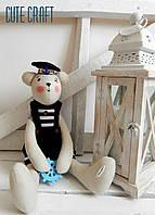 "Мягкая игрушка мишка ""seaman bear"" handmade"