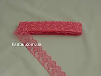 Кружево ярко розовое, ширина 4 см